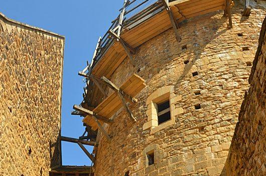 Le château de Guédelon en construction