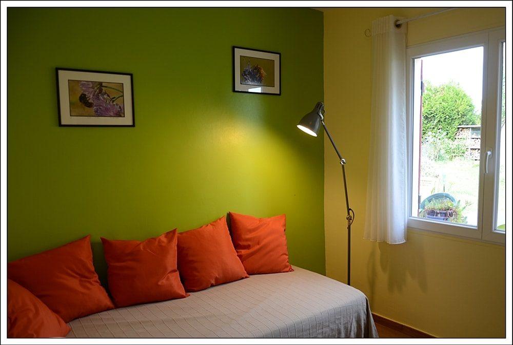 Chambre Pistache pour 1 personne ou pièce de détente et de lecture